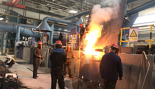 Customers visit the site of Taishan Iron and Steel