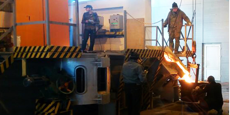 0,5Т Aluminum melting furnace in Syria